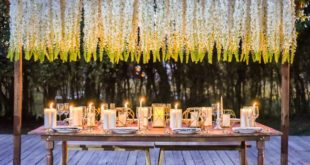 styled table at night