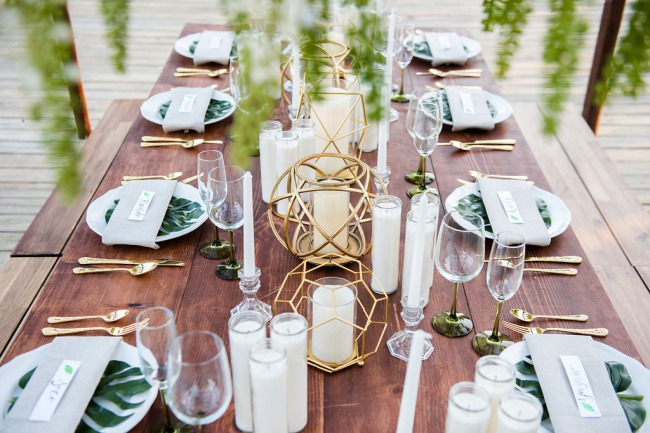 tablescape with candles and decor