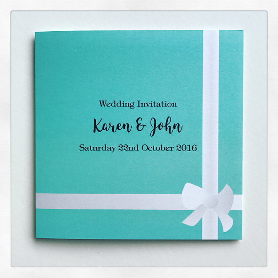 Tiffany Blue Gift Personalized Wedding Invite