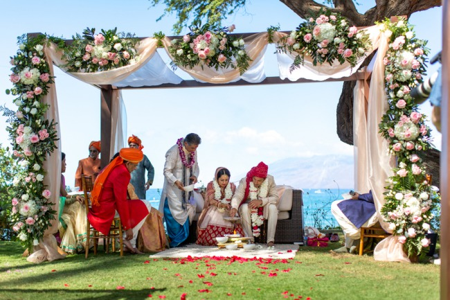 traditional Indian wedding ceremony at Andaz Maui