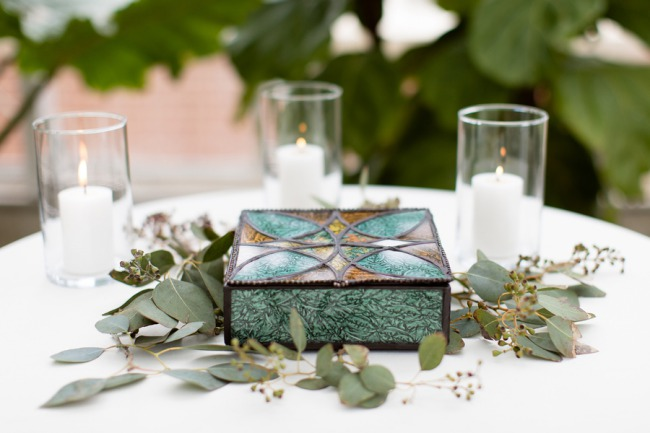 turquoise colored ceremony box