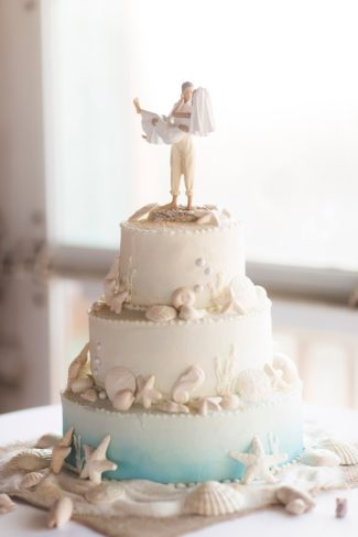 Powder Blue Starfish Themed Wedding On Pensacola Beach