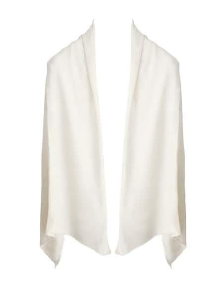white cashmere wrap