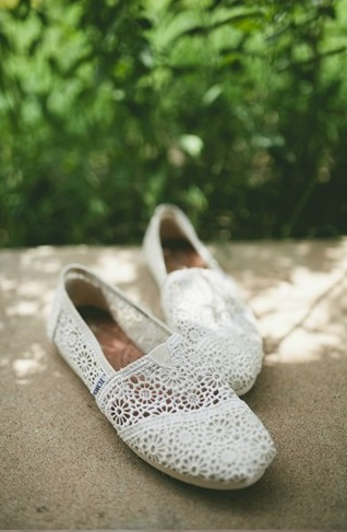 white crochet toms for bridal shoes