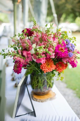 wildflower bouquet in vase