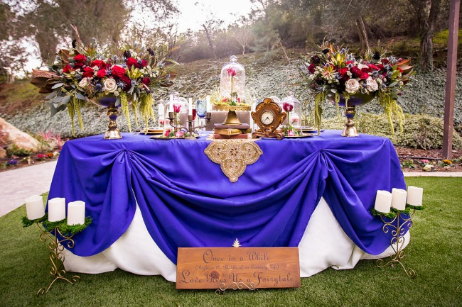 beauty and the beast styled table