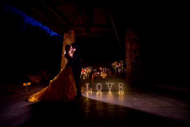 belle and prince dance at night