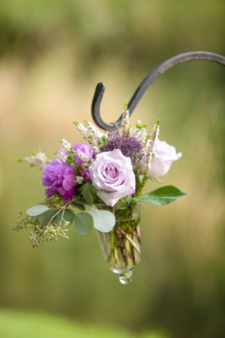 bouquet on shepherds hook