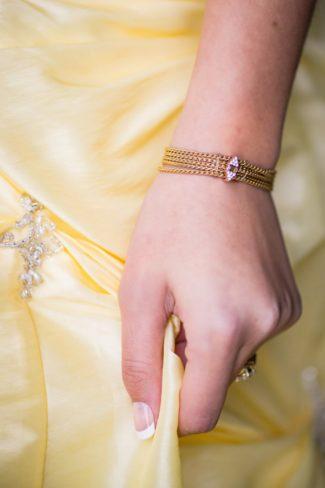 bride with gold bracelet