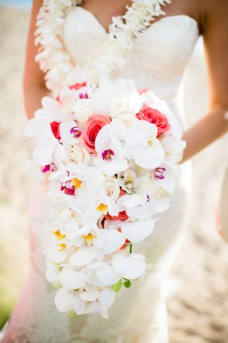 bride's tropical flower bouquet