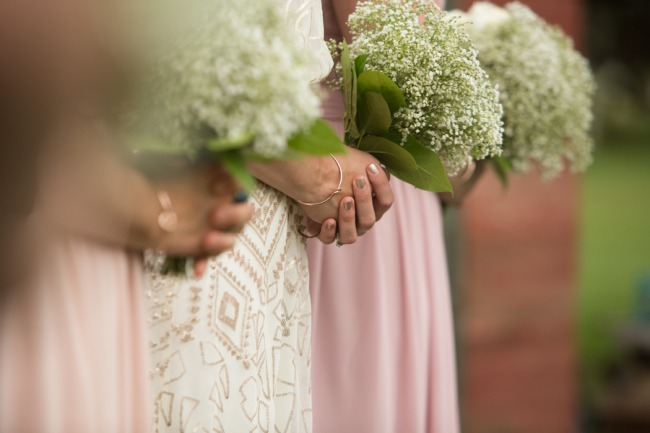 bridesmaid bouquet closeup