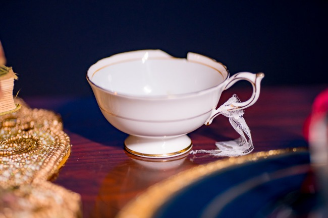 chipped teacup