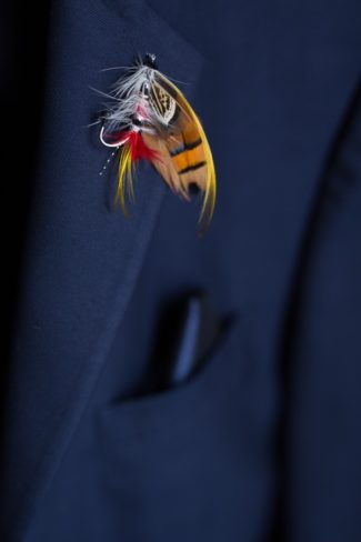 fly fishing boutonniere