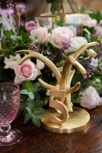 gold antler table number