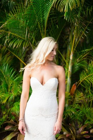 gorgeous bride in gown