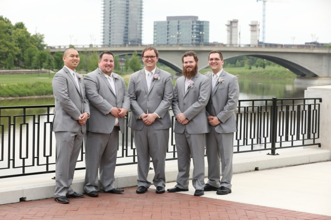groomsmen by the river