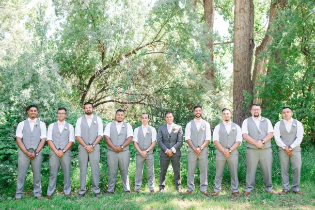 groomsmen in a row