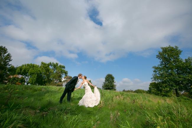 kissing in open field