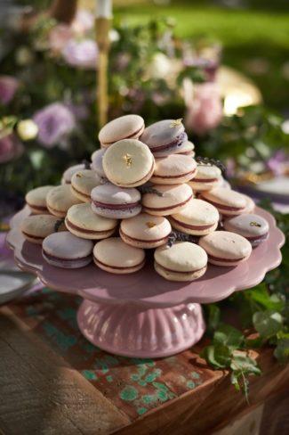 platter of macaroons
