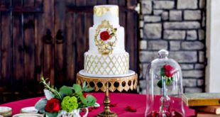 styled beauty and the beast dessert table