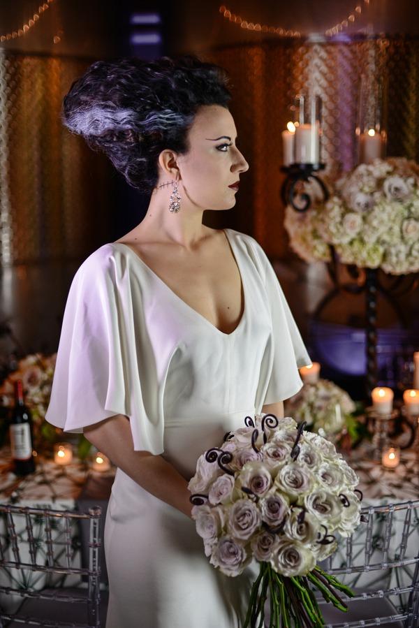 Bride Of Frankenstein Styled Wedding Film Noire Classic Love