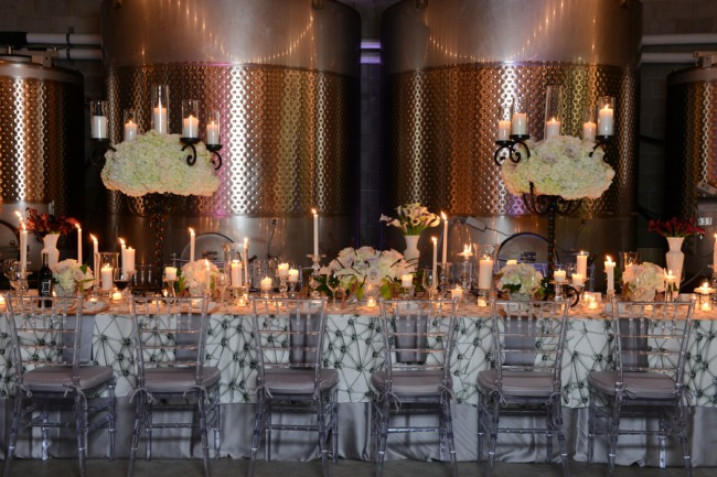 styled decor table at Quantum Leap Winery
