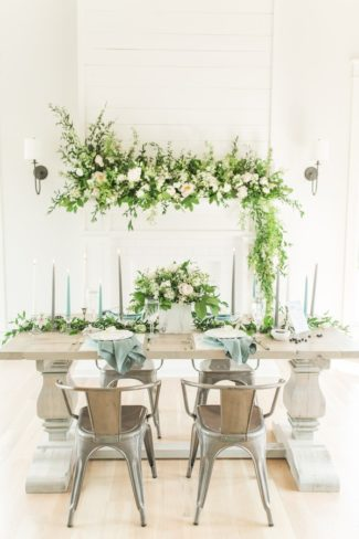 styled geometric and greenery shoot