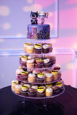 superhero cupcake tower