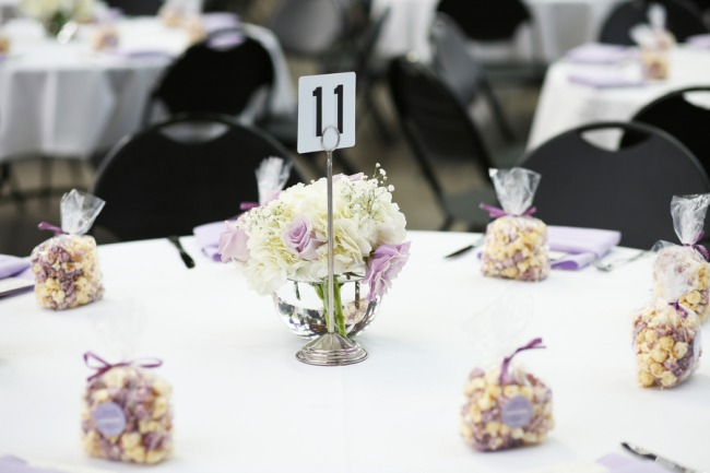 table number with popcorn
