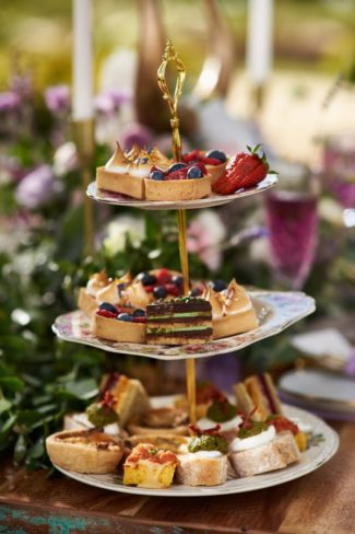 three tier dessert platter