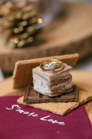 wedding rings on S'more
