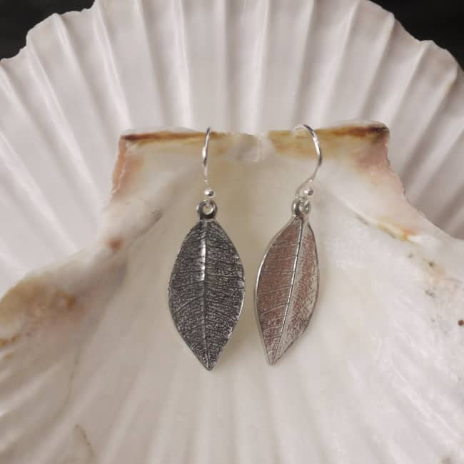 10 Year Anniversary Tin Leaf Earrings