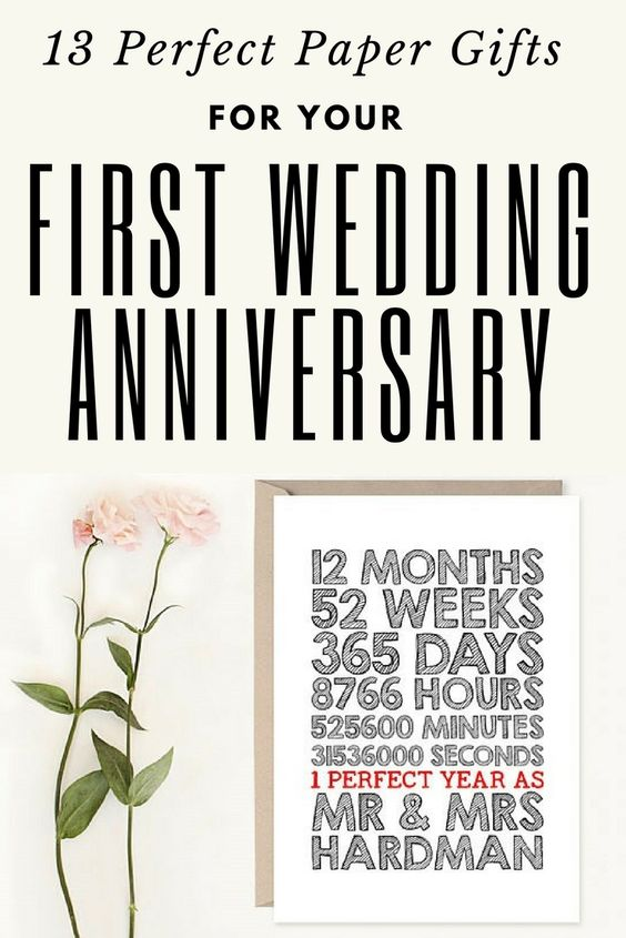 13 Paper Gifts For Your First Wedding Anniversary