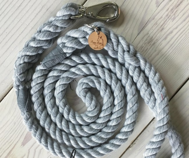 Cotton dog lead for anniversary gift for him