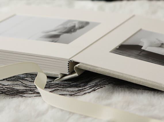 Fabric Slip-In Matted Boudoir Photo Album – 1st wedding anniversary gift for him
