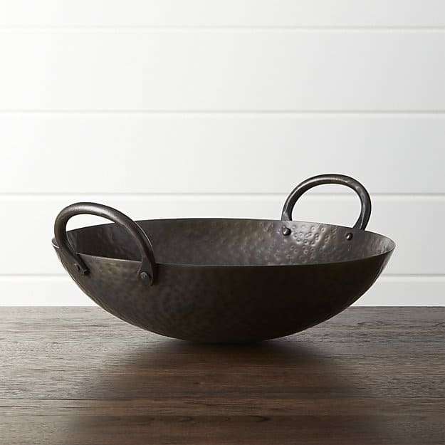 Feast Hammered Iron Serving Bowl for iron gift