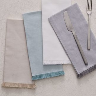 Frayed Edged Cotton Napkins