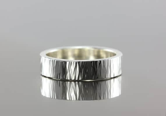 hammer textured unique mens wedding band - Mens Unique Wedding Ring