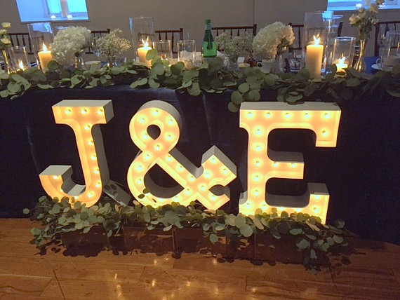 Marquee Letter Lights Initials