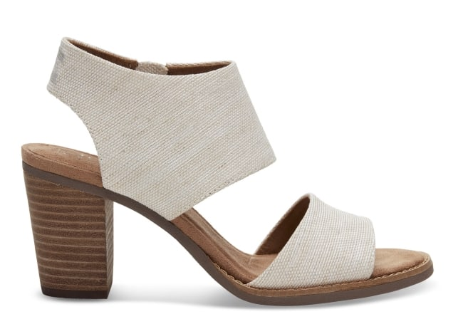 Natural Yarn Dye Bridal Sandals for wedding shoes