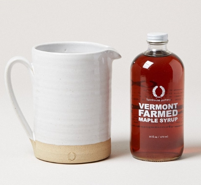 Pottery Pitcher for syrup for anniversary gift idea