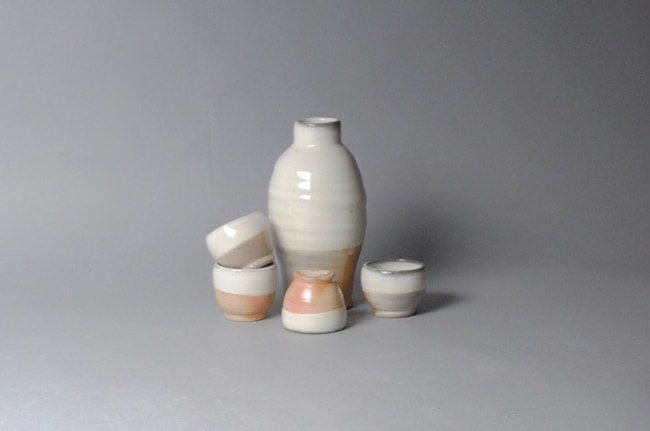 Pottery Sake set for 9th anniversary gift