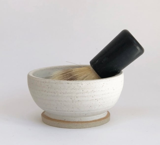 Shaving bowl – wheel thrown stoneware anniversary gift