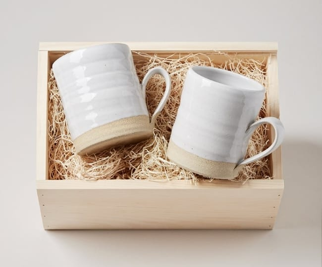Silo pottery mugs for anniversary gift