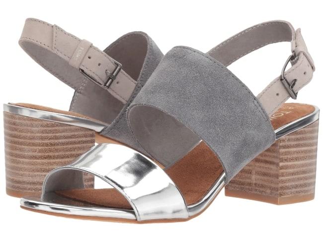 TOMS Poppy Metallic bridal sandals