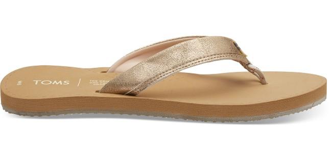 Toms Champagne Shimmer Bridal Gabi Flip-Flop Sandals