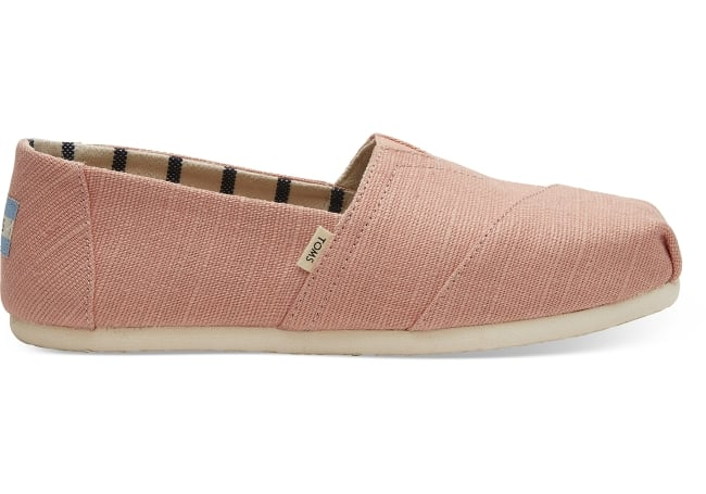 Toms traditional Pink canvas flat for bridal shoe