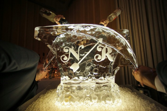 Wedding Couples initials in Ice