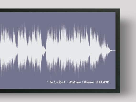 Wedding Song soundwave art print anniversary gift for him