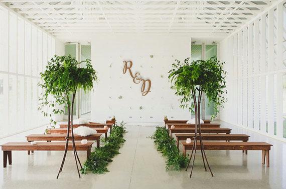 Wedding Wooden Initials or Monogram Backdrop Sign Signage